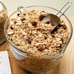 Control the amount of added sugar by making a big batch of Maple-Nut Granola.  Store in an airtight container for up to 2 weeks!