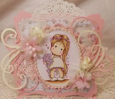 ScrapbookFashionista Designs by Rina: Midway Marvelous Magnolia Doillie DT Card
