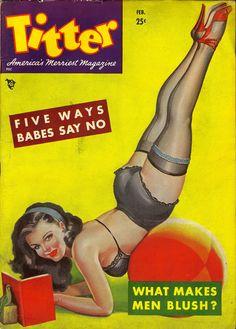 Peter Driben Vintage pinup magazine cover, Titter
