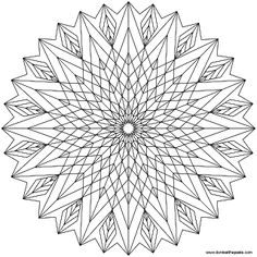 Don't Eat the Paste: Star Mandala to color