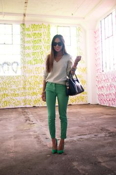 love the pants color - Aimee Song