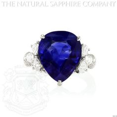 http://www.onlineshoppingshow.com/product_details.aspx?id=117 PLATINUM, PEAR SHAPED BURMESE SAPPHIRE AND DIAMOND RING.