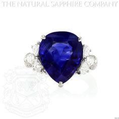 PLATINUM, PEAR SHAPED BURMESE SAPPHIRE AND DIAMOND RING. (J4258) The Natural Sapphire Company,http://www.amazon.com/dp/B00GRVIDVO/ref=cm_sw_r_pi_dp_.lxatb0AQY3Z119D