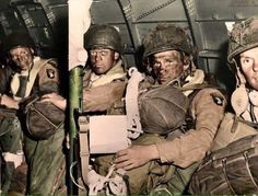 Troops from the 101st airborne on there way to Normandy 5th June 1944. Operation Chicago.