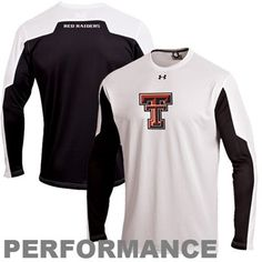 Under Armour Texas Tech Red Raiders Contender Long Sleeve Performance T-Shirt - White/Black