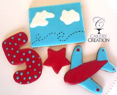 Airplane Cookie Set of 4 Airplane cookie Star by CakeryCreation, $4.99 Specialty cookies in Daytona by Cakery Creation. We ship all over the US!