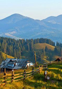 Carpathian mountains, W Ukraine, from Iryna