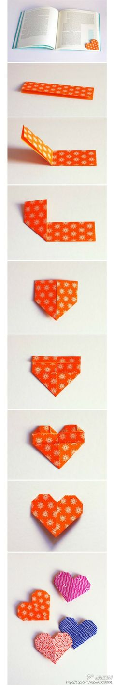 Little heart bookmark