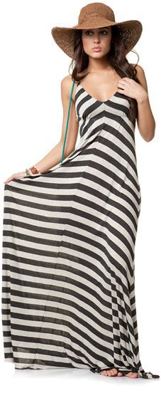 Striped maxi dress.