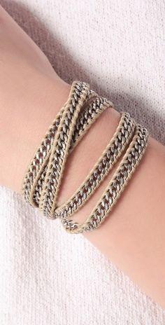 beaded wrap bracelet...shopbop.com