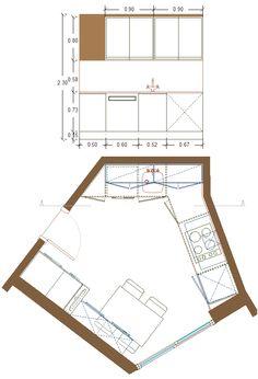 reordenación de cocina diseño 1, alzado lado izquierdo zona de fregadero