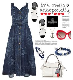 """""""Style with www.atolyestone.com: Love comes unexpectedly"""" by hamaly ❤ liked on Polyvore featuring Peter Pilotto, Proenza Schouler, Alice + Olivia, modern, gift, jewellery and atolyestone"""