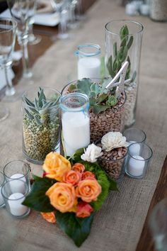 Cuban-Inspired Wedding: A Tropical Trend with Lots of Sabor Bring Cuba into your wedding and your backyard with these succulent centerpiece ideas.Days Like These Days Like These may refer to: Havanna Party, Havana Nights Theme, Succulent Wedding Centerpieces, Mexican Wedding Centerpieces, Mexican Centerpiece, Mexican Party, Cuban Party Theme, Fiesta Party, Party Planning