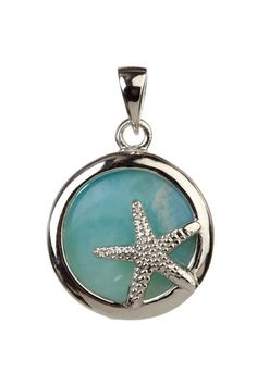 starfish love <3 Larimar pendant - This is my very most favorite stone, hard to find around here :)