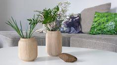 Design-Vasen aus Holz - Vase POPPY von applicata