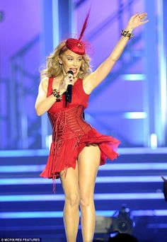 Kylie Minogue wears saucy lingerie to open European tour Just She, European Tour, Opening Night, Kylie Minogue, Leotards, Dancer, Tours, Lingerie, Actresses