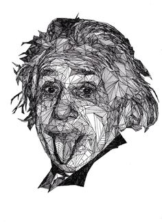 Pen drawings by Josh Bryan. Albert Einstein