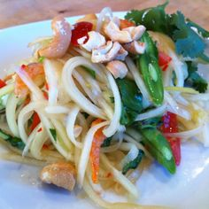 Homemade Green Papaya Salad #StupidEasyPaleo