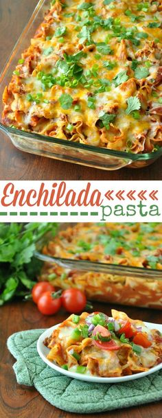Fiesta Enchilada Casserole and Healthy Homemade Enchilada Sauce :: this delicious (freezer-friendly!) dinner can be made ahead and enjoyed all week long!