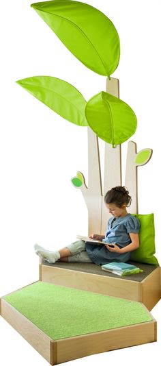 Palm Tree - Wall Canopy Allow your little VIP's to relax and get lost in their latest read, and their imagination. Create a peaceful zone for quiet time, or nap time in-between reading and play! Library Furniture, Kids Furniture, Tree Canopy, Kids Play Area, Inspiration For Kids, Kids Events, Tree Wall, Kid Spaces, Event Design