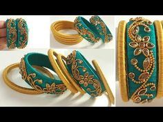 Hi ,I am Kalpana Ambati and welcome to my channel . In this channel i have presented videos for beginners and based on quilling i made videos on How to make . Silk Thread Bangles Design, Silk Thread Necklace, Silk Bangles, Bridal Bangles, Thread Jewellery, Hand Jewelry, Handmade Jewelry, Diy Earrings Tutorial, Saree Tassels Designs