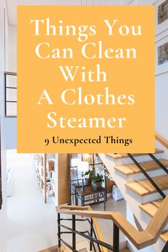 A handheld clothes steamer can help keep your clothes wrinkle-free, but did you know you could use one to keep your home clean too? Here are 9 surprising things you can clean with a handheld clothes steamer. Fabric Steamer, Clothes Steamer, Steam Cleaners, Steamers, Wrinkle Remover, Household Items, How To Remove, Cleaning, Travel