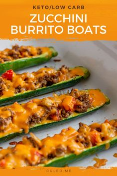 """These zucchini boats are perfect for an appetizer, snack, or a hearty lunch! I have been a fan of making """"boats"""" ever since I started keto. Avocado boats and zucchini boats are a couple of vegetables that I have used in the past to make these. Avocado boats are one of my favorite as the seed is the perfect space to load up on meat and extra keto-friendly vegetables! #ketosnacks #zucchini #ketoboats Best Appetizer Recipes, Low Carb Appetizers, Lunch Recipes, Delicious Recipes, Low Carb Recipes, Avocado Boats, Keto Avocado, Zucchini Boats, Easy Snacks"""