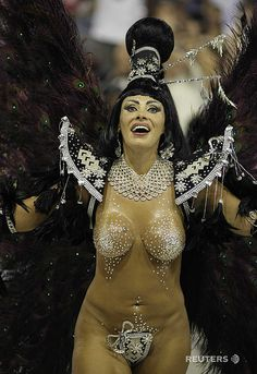Angela Bismarchi, drum queen of the Porto da Pedra samba school,