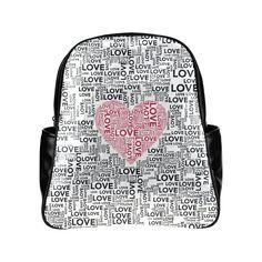 Love Heart Multi-Pockets Backpack (Model 1636)