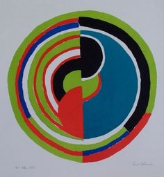 Abstract Swirl - Sonia Delaunay - WikiPaintings.org