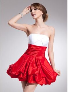 Special Occasion Dresses - $110.99 - Empire Strapless Short/Mini Taffeta Homecoming Dress With Ruffle  http://www.dressfirst.com/Empire-Strapless-Short-Mini-Taffeta-Homecoming-Dress-With-Ruffle-022021063-g21063