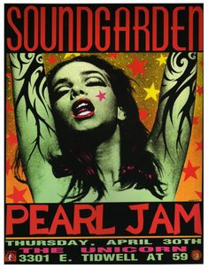 Soundgarden / Pearl Jam  by Frank Kozik