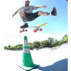 Going back to around 2009 when there was this weird green cone sitting at some skateboard park and I felt the need to do a Ollie One Foot over it  @dalgart by heavymetalchuck