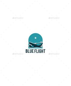 Blue Flight by MrQyu An logo can be use on anything you need. AI and EPS files CMYK and RGB color 100 Vector Resizable easy to edit the text and slo