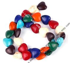 14mm Multicolor Solid Peach modern Fashion Turquoise Beads for Jewelry Making