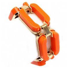 Anna's Chunky Orange Chain Link Bracelet ($35) ❤ liked on Polyvore