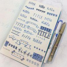 Bullet Journal Frames, Bullet Journal Headers, Bullet Journal Set Up, Bullet Journals, Friendship Bracelets Tutorial, Bracelet Tutorial, Brush Lettering, Hand Lettering, Journal Fonts
