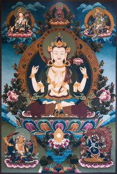 Chenrezig or Avalokitesvara is the Bodhisattva who has made a great vow to assist sentient beings on Earth in achieving nirvana.