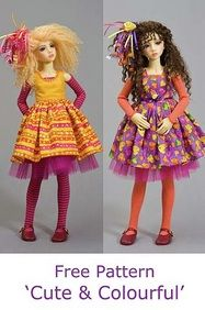 Doll clothes Free Pattern. Such a cute pattern, and good photo tutorial - measurements could be adapted to other dolls.