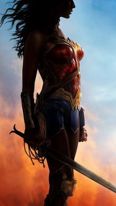 Wonder Woman Art Poster Hero Art Illustration #iPhone #6 #plus #wallpaper