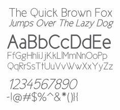 Typography - 20+ Quality Free Sans Serif Fonts | Think Design