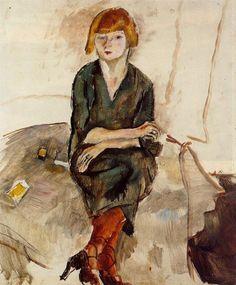 jules pascin young english woman painting #pascin