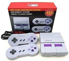 Super Classic Edition system Video Game Console retro Built-in 660 Classic Video Games AV Output TV Game System Bring... Nintendo Game Consoles, Nintendo Games, Game Item, Game 1, Prepaid Cell Phone Plans, Sega Genesis Mini, Classic Video Games, X Games, Playstation 5