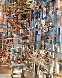 A room. Made completely out of old computer parts.