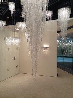 Cascading crystals...Schonbek chandeliers #JuneSneakPeek