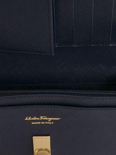 Salvatore Ferragamo Gancio Flap Wallet - Mantovani - Farfetch.com