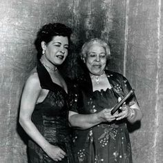 Billie Holiday with her Mom.