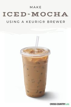 Keurig® Iced Mocha Recipe Learn how to make a banging iced mocha using your Keurig® K-Cup® coffee brewer! The results are the exact same as the ones you buy in a can or jar at the store. But, this version lower in calories and WAY cheaper! Iced Coffee At Home, Best Iced Coffee, Iced Coffee Drinks, Coffee Drink Recipes, Easy Coffee, Coffee Coffee, Coffee Beans, Iced Coffee Keurig, Coffee Truck