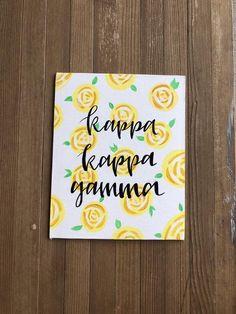 Sorority Customizable Kappa Kappa Gamma Sorority Flat Canvas Board Big Little Week Gift Big Little Week, Big Little Gifts, Big Little Reveal, Sorority Crafts, Sorority Paddles, Sorority Sayings, Phi Mu Crafts, Sorority Canvas Paintings, Big Little Canvas