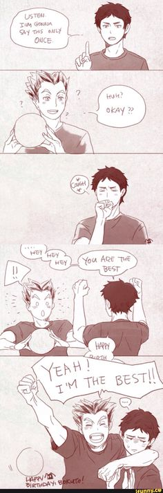 haikyuu, bokuto's birthday and Akaashi trying to show more emotion !!! HE'S…